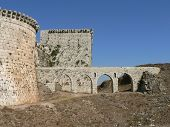 stock photo of crusader  - Crac de Chavelieurs, Crusaders castle in Syria