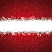 foto of x-files  - Christmas cover with white snowflakes on the red background - JPG
