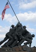 stock photo of iwo  - soldiers of iwo jima statue washington dc - JPG