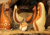 picture of nativity scene  - statues of the Nativity scene with Holy Family in South American style