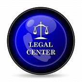 stock photo of judiciary  - Legal center icon - JPG
