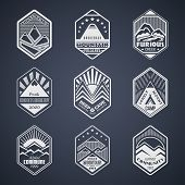 ������, ������: Mount badge set1white
