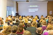stock photo of audience  - Faculty lecture and workshop - JPG
