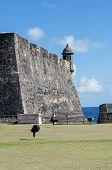 stock photo of san juan puerto rico  - Castillo de San Cristobal in Old San Juan Puerto Rico - JPG