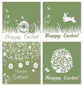 stock photo of applique  - Applique easter cards - JPG