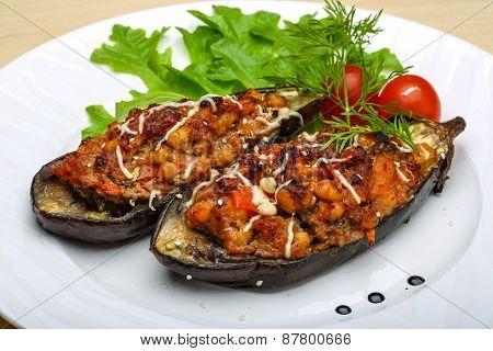 Eggplant Stuffed Minced Meat