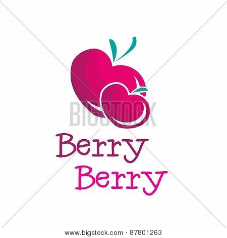 Vector bright b letter berry logo