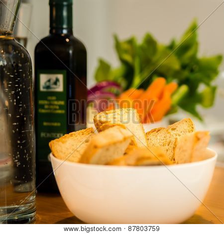 Bowl Of Fresh Bread
