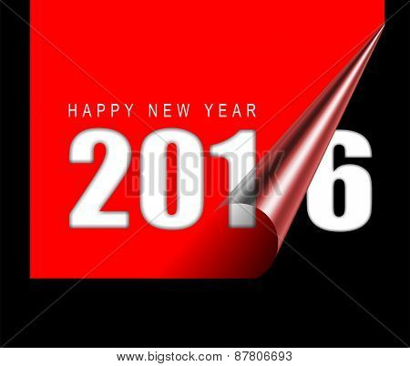 Happy new year 2016 design card