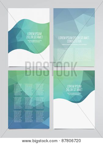 set of vector business brochure, flyer templates