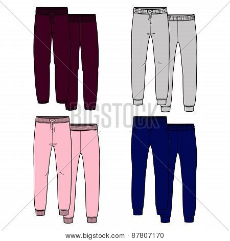 Girls trousers. Color