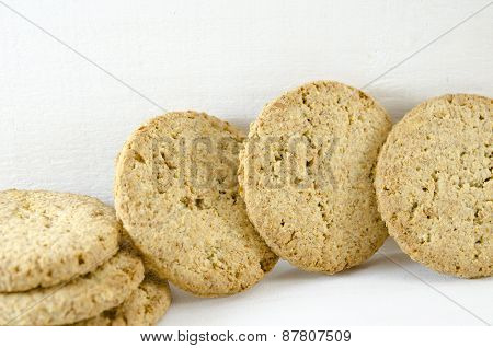 Integral Cookies On White Background