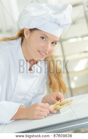 Young patisserie chef