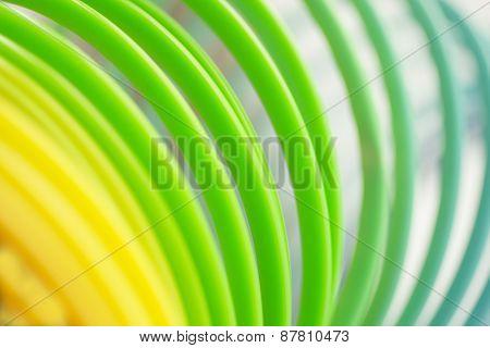 Colorful Green Color Circular Art Swirl Abstract