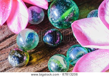 Group Of Marbles