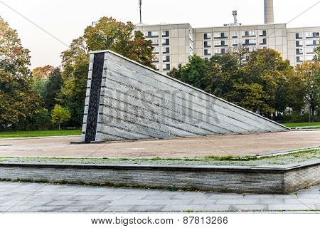 Famous Invalidenpark With Invaliden Wall In Berlin