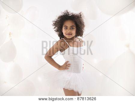 Cute mulatto girl