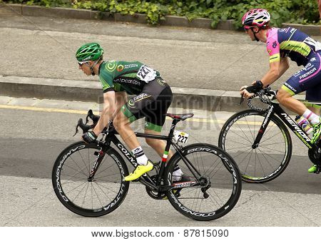 BARCELONA - MARCH, 29: Cyril Gautier of Team Europcar rides during the Tour of Catalonia cycling race through the streets of Monjuich mountain in Barcelona on March 29, 2015
