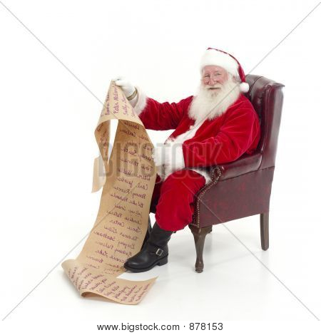 Santa Holding List Of Names
