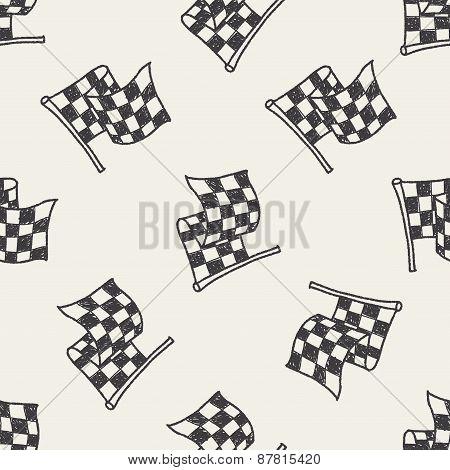 Racing Flag Doodle
