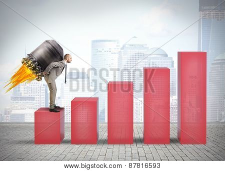 Businessman with turbo