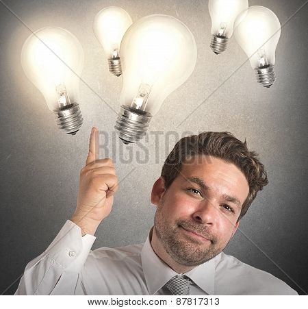 Ideas of businessman
