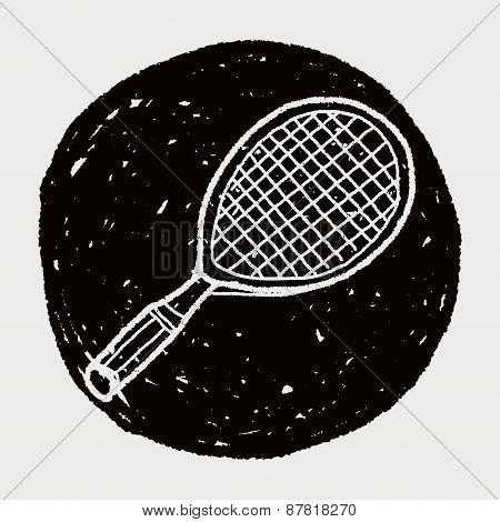 Doodle Tennis Racket