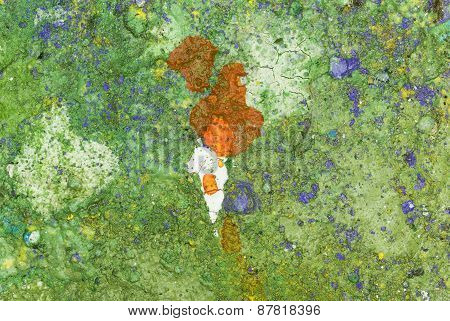 Green and Orange Abstract Art Background