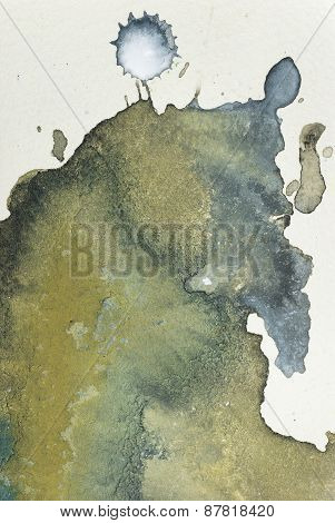 Ink Blot Abstract Art Background