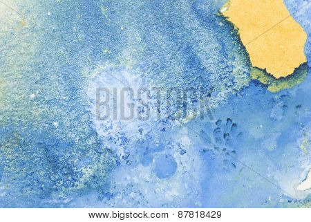 Blue Watercolor Soft Background