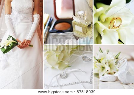 Collage Of Different Wedding Pictures