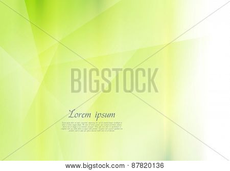 Bright green abstract vector background