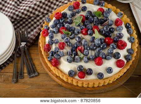 Cheese Cake With Fresh Berries