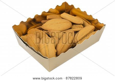 Shortbread Cookies In Golden Box