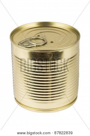 Closed Metallic Tin