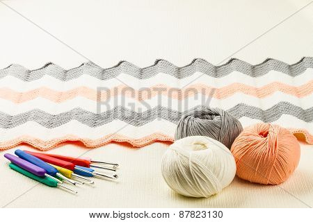 Rolls Of Soft Knitting Yarn, Knitting,