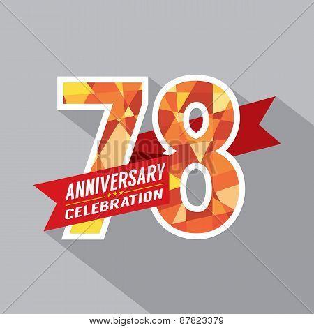 78Th Years Anniversary Celebration Design.