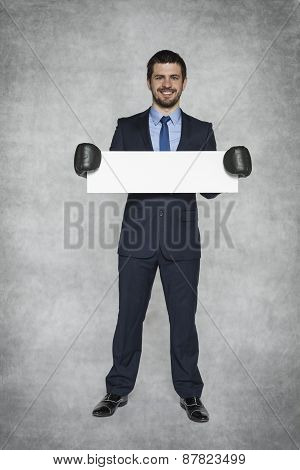 Smiling Businessman With Copy Space