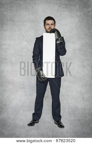 Businessman Ready To Advertise Your Business