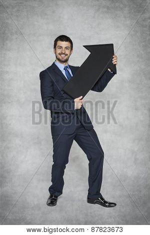 Businessman Shows Growth