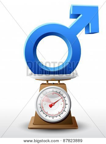 Male Sign On Scale Pan