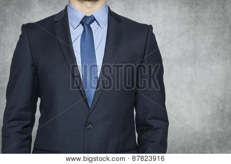 Copy Space Next To Businessman