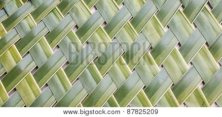 Pattern Weaving Of Coconut Leaves