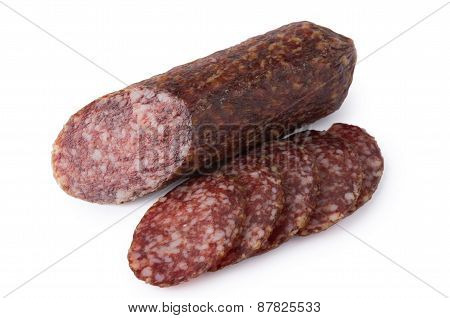 Cut Pieces Of Smoked Sausage