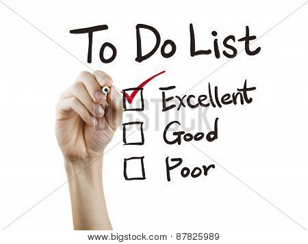 To Do List Checking By Hand