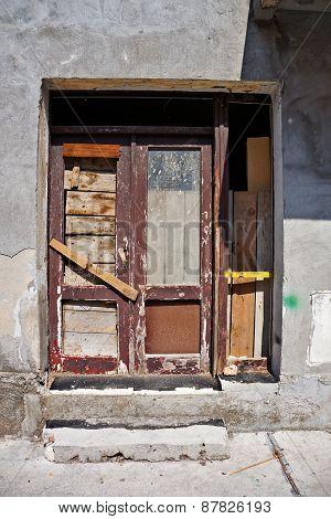 Old Timeworn Doors In Cetinje, Montenegro.