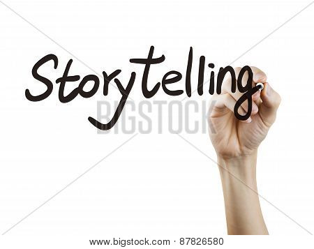 Storytelling Word Written By Hand