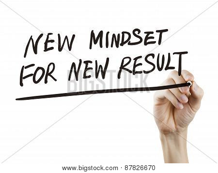 New Mindset For New Results Words Written By Hand