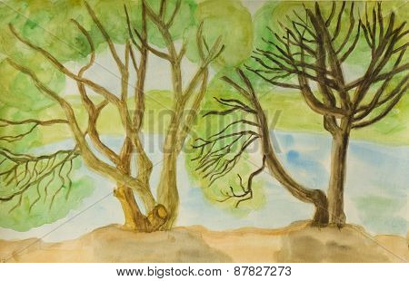 Willow Trees, Painting