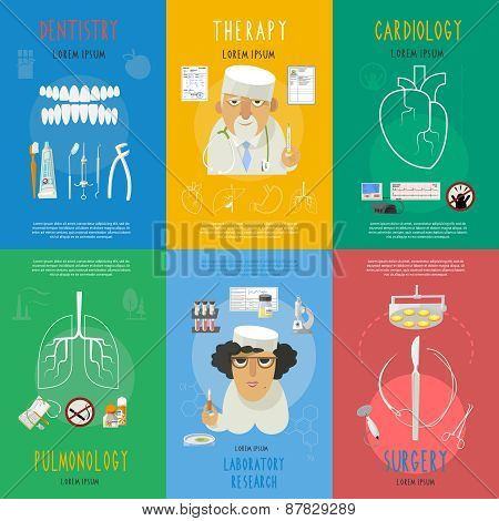 Medicine flat composition set isolated vector illustration.